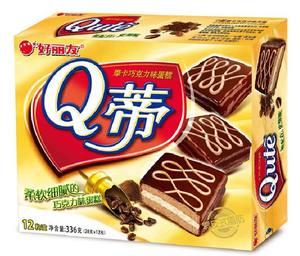 ORION/好丽友 28g*12枚 Q蒂摩卡/榛子巧克力派 336g蛋糕 有买有送