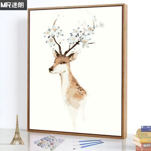 迷朗diy数字<span class=H>油画</span>风景客厅动漫手工填充数码填色手绘油彩装饰挂画
