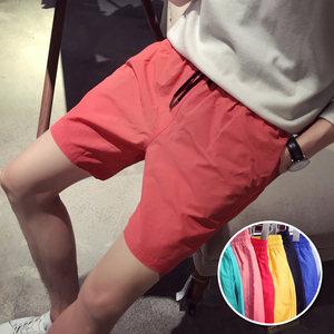 夏天<span class=H>短裤</span>男宽松休闲沙滩裤五分中裤夏季韩版潮流bf风5分百搭裤子