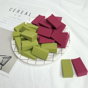 24切抹茶綠色三角形果凍非乳膠粉撲化妝海綿酒紅色<span class=H>美妝</span>蛋干濕兩用