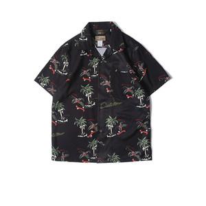 HAWAII <span class=H>ALOHA</span> SHIRTS 椰树/骷髅 美式休闲阿美咔叽夏威夷短袖衬衫