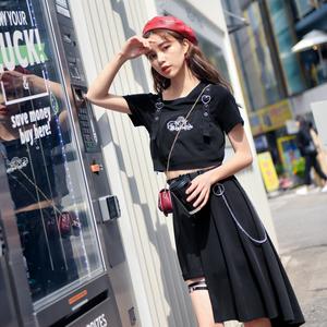 原创森女部落小吊带三件套韩版显瘦套装洋气时尚酷女孩2019新款夏