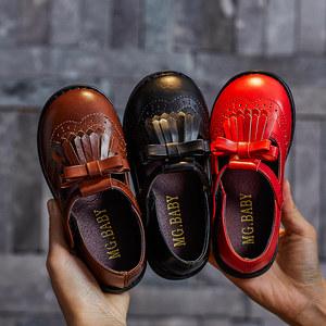 儿童鞋2019春季新款韩版女童鞋皮鞋小公主流苏<span class=H>单鞋</span>小中童女孩鞋子
