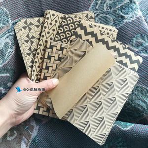 经典黑!单面几何图案牛皮折纸 条纹圆点格子菱形 大号15cm 28cm