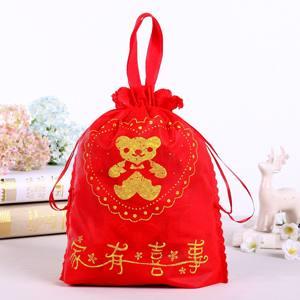 新品过寿生日回礼红喜蛋男女宝宝满月无纺布喜糖果盒手提袋子结婚
