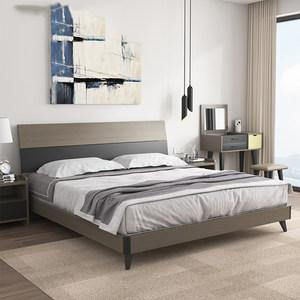 床 现代简约北欧主卧储物1.8米双人床1.5米1.2经济型<span class=H>板式床</span>特价床