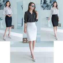 Spring and Summer Skirt Half-length Skirt New One-step Skirt Mid-length Skirt Hip-wrapped Professional Skirt Suit Skirt White Workwear Skirt Skirt