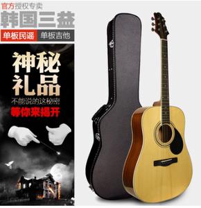 正品SAMICK韩国三益民谣吉他GD-100S/101S/200S 单板琴4041寸吉他