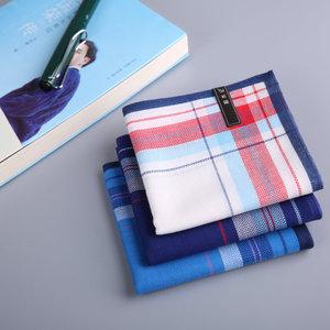 【和木记】(皮特)<span class=H>手帕</span>纯棉男士手绢擦汗吸汗舒适柔软进口布料