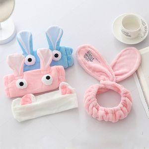 韩版兔子可爱的头箍发窟耳朵刘海松紧花饰小孩子保暖<span class=H>发箍</span>猫咪编织