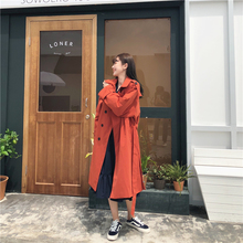 2009 New Spring and Autumn Windswear Female Mid-long Knee-Crossed Korean Double-breasted Chic Overcoat Fashion