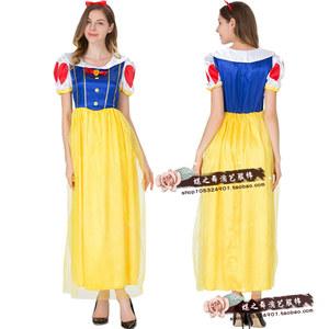 万圣节服装迪士尼成人白雪<span class=H>公主裙</span>灰姑娘化装舞会女王晚<span class=H>礼服</span>演出服