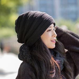 <span class=H>帽子</span>女冬潮韩国日系韩版百搭2018冬天新款加绒保暖针织秋冬毛线帽