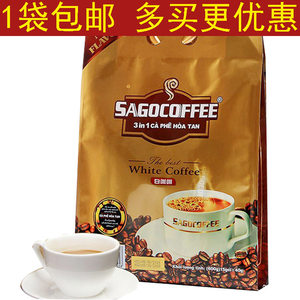 包邮 越南原装进口<span class=H>西贡</span><span class=H>咖啡</span>白<span class=H>咖啡</span>40g*15条600g三合一速溶<span class=H>咖啡</span>