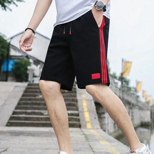夏季<span class=H>短裤</span>男士纯棉五分裤韩版修身条纹潮流运动裤学生百搭沙滩裤男