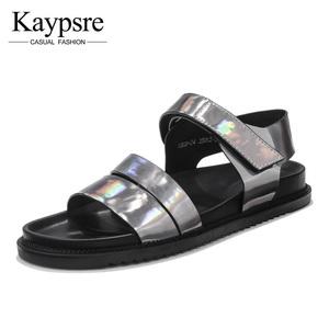 Kaypsre 欧美日常休闲炫彩凉拖<span class=H>鞋</span>男士真皮耐磨<span class=H>沙滩</span><span class=H>鞋子</span>夏季潮<span class=H>男鞋</span>