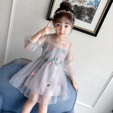 Children's Dress Girls Autumn 2019 New Dresses Children's Screen Skirt Korean version of Yangqi Princess Skirt Pengpeng Skirt