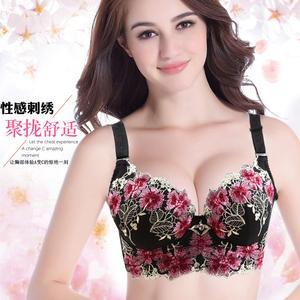 胸罩聚�n�{整型性感上托情趣 女士胸托有�圈 加厚小胸收副乳文胸