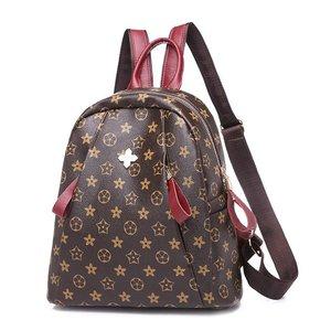 <span class=H>双肩包</span>女6912新款潮牌韩版时尚百搭女士休闲pu软皮小背包旅行书包