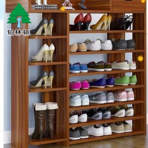 加长小户型家用门口经济型架子进门神器大容量防尘简易木鞋架组装