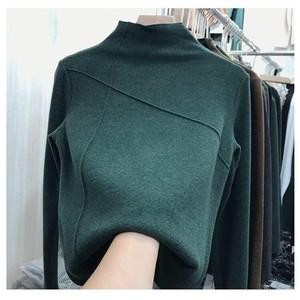 丰页打底衫女加厚双面德绒2020洋气秋冬新款显瘦时髦长袖上衣女装