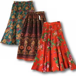 古着碎花Vintage孤品日本制森女复古赫本高腰毛呢半身裙羊毛<span class=H>伞裙</span>1