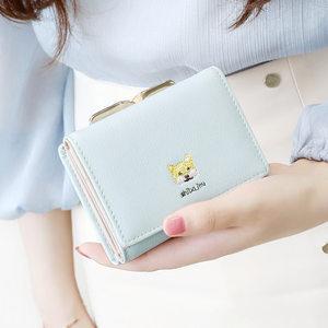 KQueenStar女士<span class=H>钱包</span>女短款2019新款韩版简约迷你可爱多功能钱夹