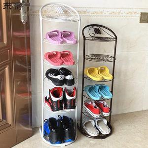 多层鞋架省空间简易门口转角窄鞋架家用玄关铁艺小型<span class=H>鞋柜</span>鞋收纳架