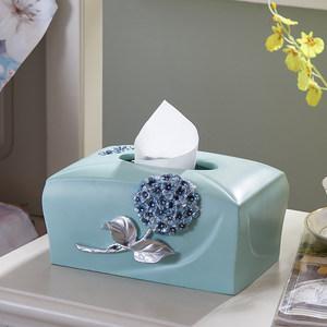 好心艺欧式创意复古时尚纸巾盒可爱简约抽纸盒客厅纸抽盒卷<span class=H>纸巾筒</span>