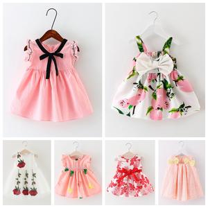 女<span class=H>宝宝</span>夏装0-3岁小女童夏季连衣裙背心裙吊带裙1婴儿衣服2公主裙