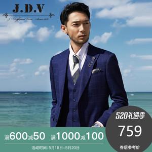 JDV<span class=H>男装</span> 2019年春季新品休闲西装 <span class=H>西服</span>套装上装新郎结婚西装外套