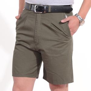 中年夏季大码宽松男士爸爸装纯棉五分裤子中老年男装休闲西装短裤
