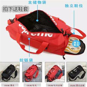 健身包女运动包男防水训练包短途大容量行李袋单肩手提旅行背包潮