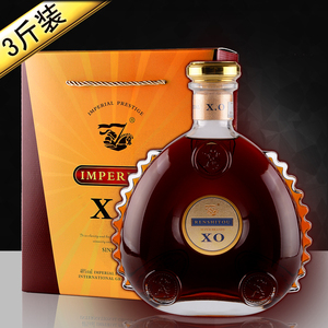 法国原酒进口XO<span class=H>白兰地</span><span class=H>brandy</span>酒1.5L大瓶3斤1500ML洋酒礼盒装