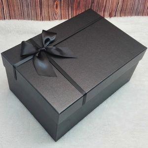 号黑色长方形大衣<span class=H>西装</span>婚纱礼服<span class=H>包装盒</span>长裙生日礼物圣诞节礼盒超大