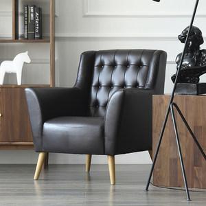设计师家具北欧头层牛皮<span class=H>沙发</span>现代简约客厅真皮单人<span class=H>沙发</span>椅布艺<span class=H>沙发</span>