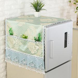 冰箱巾盖布家用蕾丝防尘盖布单开门双开门对开门现代简约<span class=H>盖巾</span>布艺