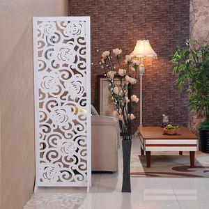 <span class=H>屏风</span>隔断客厅简约现代小户型折叠简易移动双面雕花镂空玄关装饰墙