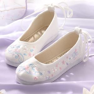 汉服<span class=H>鞋子</span>女古风古代汉服搭配鞋平底学生淡雅百搭古装<span class=H>鞋子</span>女汉服鞋