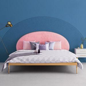 北欧简约风格铁艺床个性女孩房单人床次卧床少女粉色公主床儿童床