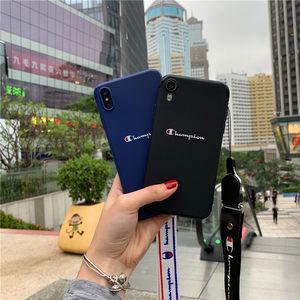iPhone X潮牌Champion<span class=H>手机壳</span>苹果xs磨砂软壳7/8plus保护套6s男max