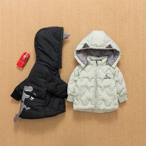 儿童冬装新款韩版洋气婴童装男童小童宝宝上衣百搭<span class=H>棉衣</span>卡通外套潮