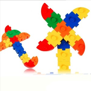 儿童积木塑料拼插装接益智大块宝宝3-6周岁玩具建构类男大颗粒