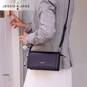 JESSIE&JANE 人气时尚<span class=H>铆钉</span>单肩斜挎<span class=H>女包</span>手拿信封<span class=H>包包</span>1339