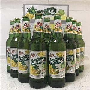 果啤汉斯小木屋热带美味混合味碳酸饮料500ml*9瓶  全店2箱起发