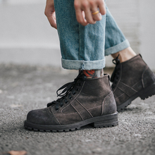 Winter Martin boots men's high-top trend England versatile boots men's retro boots male students casual tooling boots men