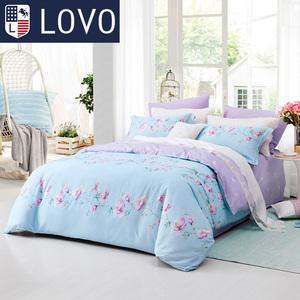 LOVO家纺<span class=H>床上</span><span class=H>用品</span>床单四件套 1.8m床全棉纯棉特价被套被罩