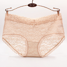Lady Caitian underwear sexy low waist triangles authentic transparent soft mesh lace summer breathable underpants
