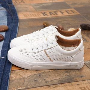 夏季网眼透气平底白色帆布鞋<span class=H>女鞋</span>41-43加大码40-43学生板鞋小白鞋