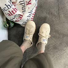 2018 new canvas shoes female students wild Korean version of Harajuku style ulzzang retro port wind chic board shoes